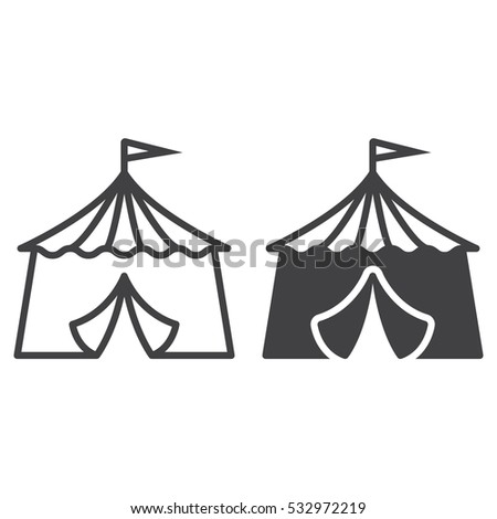 circus tent line icon outline and filled vector sign linear and full pictogram isolated  sc 1 st  Shutterstock & Circus Tent Line Icon Outline Filled Stock Vector 532972219 ...
