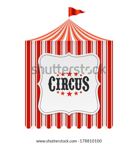 Circus tent, poster background. Vector.  - stock vector