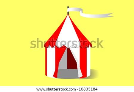 Circus Tent Vector Illustration - stock vector