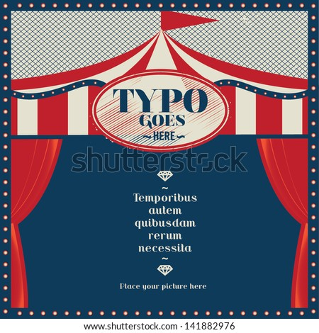 circus theme wedding invitation card greeting stock vector hd