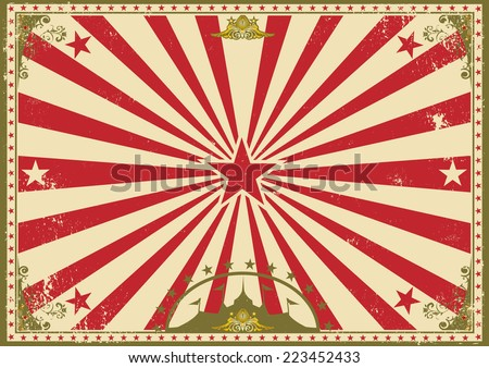 Vintage Circus Poster Background Vintage Circus Stock I...