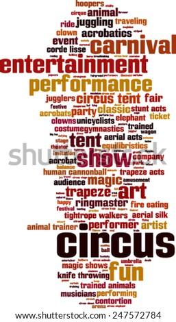 Circus word cloud concept. Vector illustration - stock vector