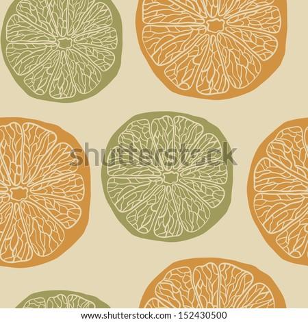 Citrus pattern - stock vector