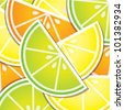 Citrus wedge background/card in vector format. - stock photo