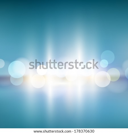 City Abstract Bokeh Background  - stock vector