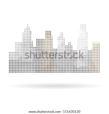 City abstract isolated on a white backgrounds. Vector illustration - stock vector