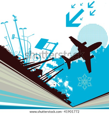 city and transportation - stock vector