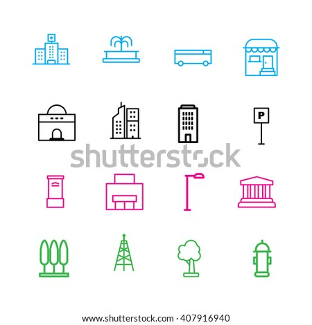 City Appliance icon set on white background