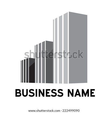 city architecture in cement  - stock vector