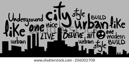 City art - stock vector