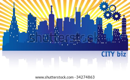 City Biz Banner - stock vector