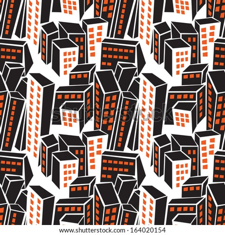 city buildings -seamless pattern