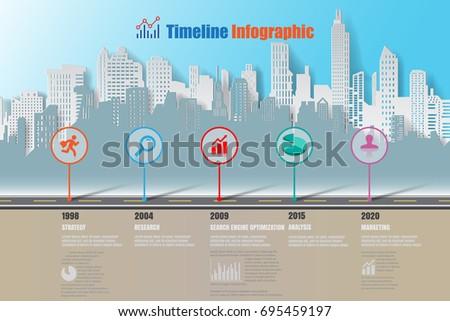 Stock Vector City Business Road Map Timeline Infographic Designed For Abstract Background Template Elements on Merengue Dance Diagram