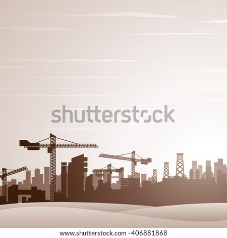 City Construction Background. Vector Ready for Your Text and Design. - stock vector