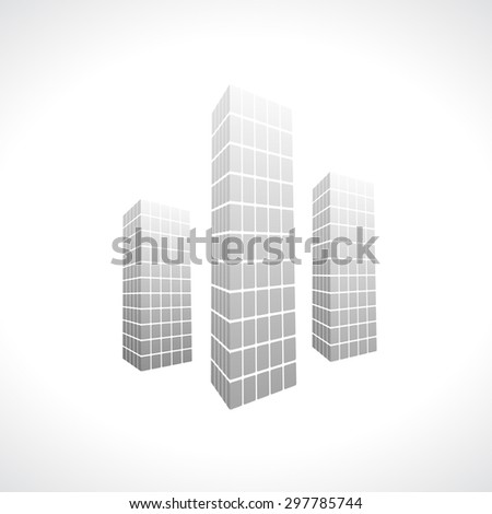 city 3d black icon