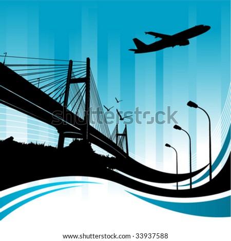 city design - stock vector