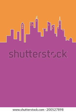 City flat background - stock vector