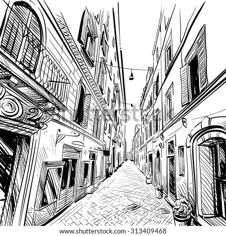 City street sketch