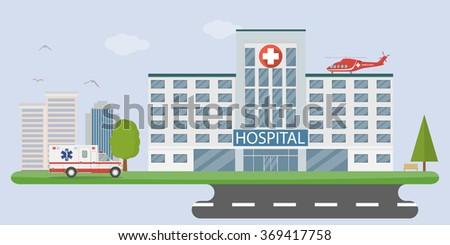 City hospital - stock vector