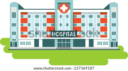 Hospital building stock images royalty free images vectors city hospital building in flat style malvernweather Images
