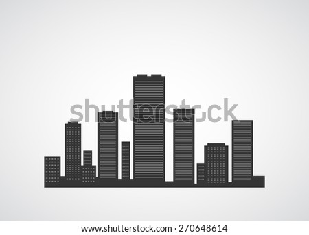 city icon scape abstract background - stock vector