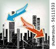 city illustration - stock vector