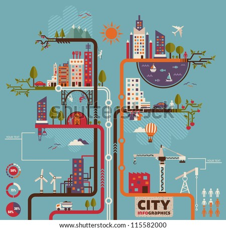 City info graphics - stock vector