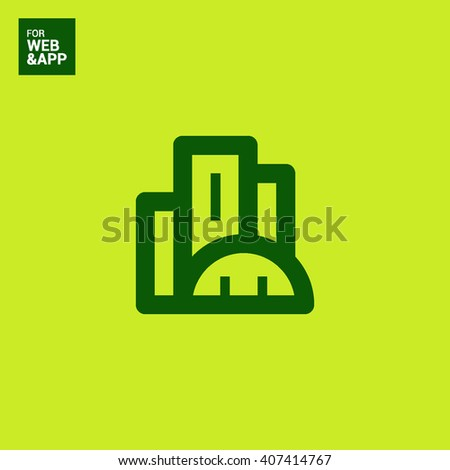 City isolated minimal single flat linear icon. business center line vector icon for websites and mobile minimalistic flat design.