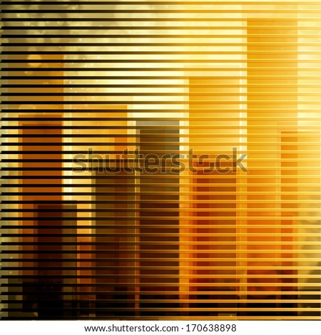 City landscape at daylight through window - stock vector