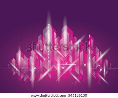 City Landscape. Beautiful abstract background town night