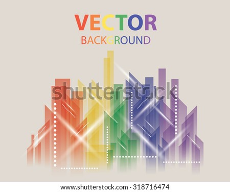 City Landscape. Beautiful abstract color background town - stock vector