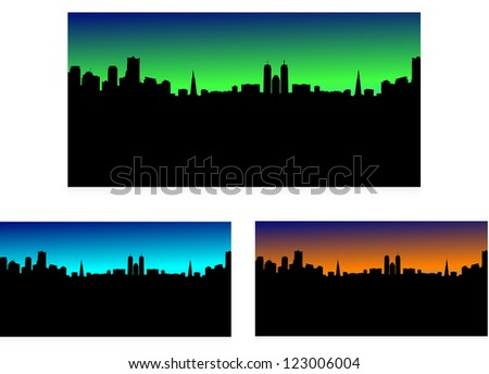 city landscape, 3 in 1