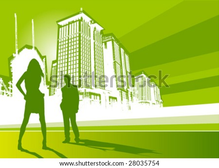 city life vector - stock vector
