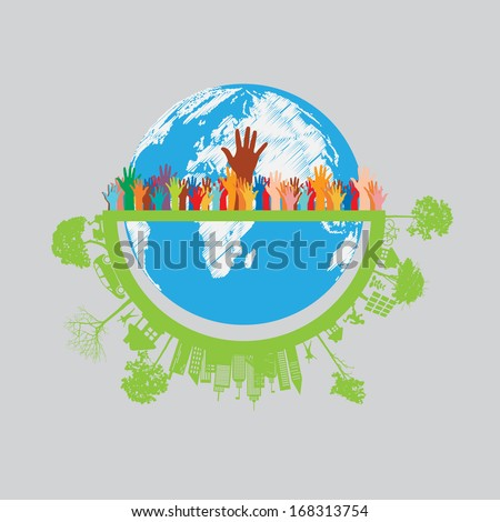 city living concept. and ECO concept - stock vector