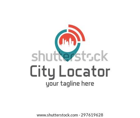 City locator design vector template. Pin maps symbol vector . Gps icon design vector. Simple clean design Gps locator logo vector. - stock vector