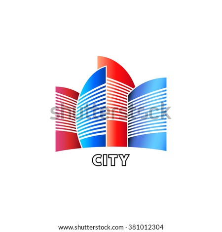 city logotype, minimal architecture concept design
