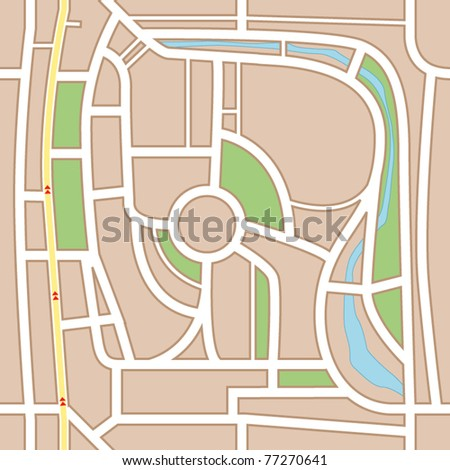 City map abstract seamless background - stock vector