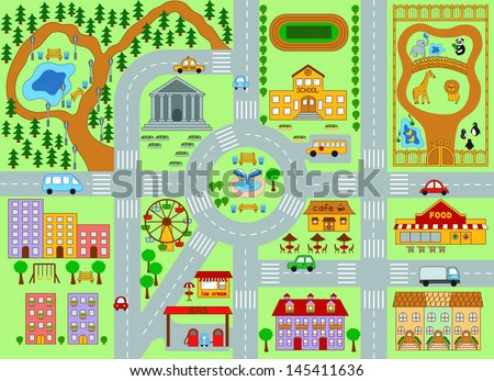 City Map For Kids