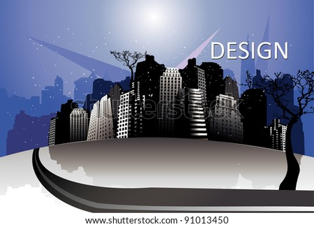 city modern vector illustration