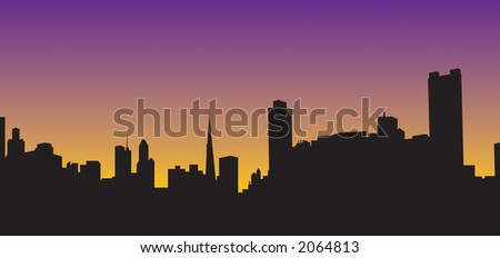 City night scape vector makes a perfect background to add text. - stock vector
