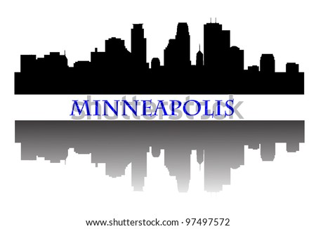 City of Minneapolis high rise buildings skyline