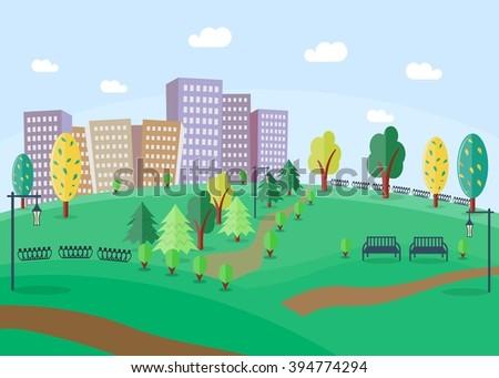 city park cartoon - photo #22