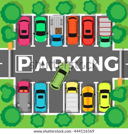 city parking vector shortage parking spaces stock vector royalty rh shutterstock com parking lot clipart parking lot clipart free