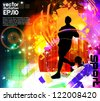 City runner. vector illustration - stock
