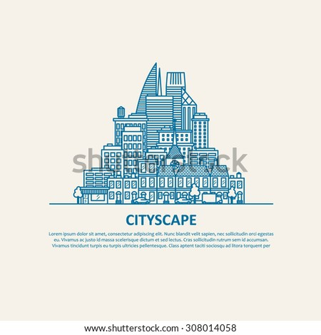 City scape thin flat