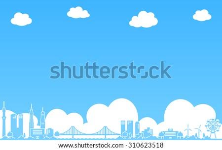 City scape Vector Illustration - stock vector