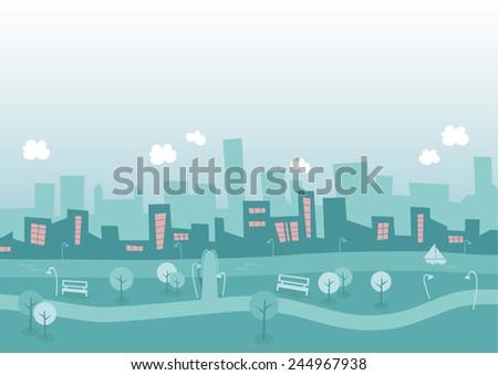 City Silhouette - stock vector