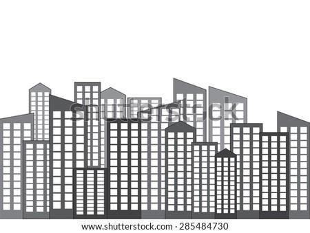 city silhouette vector - stock vector