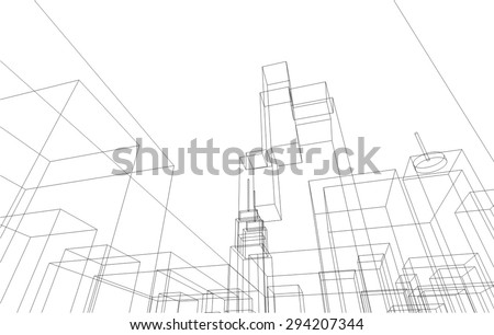 city silhouette vector background - stock vector
