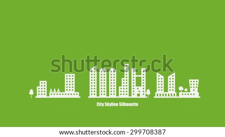 City Skyline Silhouette Background Vector